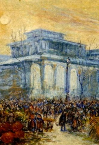 Gustave Madelain, Les anciennes halles